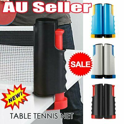 AU14.43 • Buy Portable Table Tennis Net Rack Replacement Retractable Ping Pong Sports Training