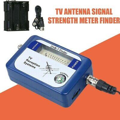 Blue DVB-T Finder Digital Aerial Terrestrial TV Antennas Signal Strength Meter • 9.08£