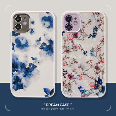 For IPhone 7 8 XR XS 11 12 Pro Max Phone Cover Case Soft Back Shockproof Flowers • 3.72£