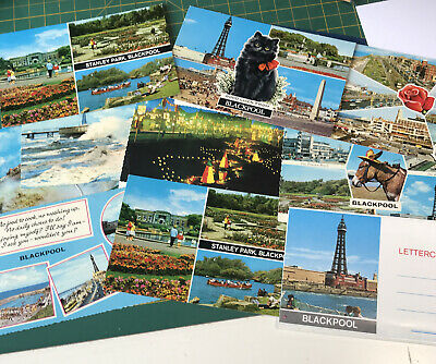 11 Coloured Postcards Of Blackpool • 1.99£