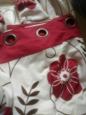 Next Ring Top Curtains Red Flower Pattern 168x229 Cm  • 5£