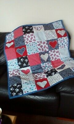 Nautical Patchwork Cot Quilt/playmat - Ships/pirates/flags!! NEW!! • 14.99£