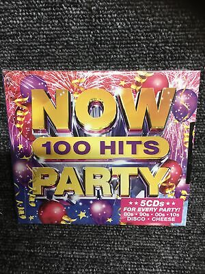 £6.45 • Buy NOW 100 HITS PARTY (Various Artists) 5 CD Set (2019) (New & Sealed)