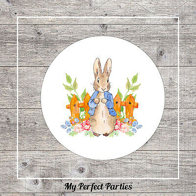 £2 • Buy 35 Peter Rabbit Birthday Party, Baby Shower, Christening, Thank You Stickers