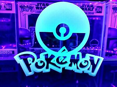 7  POKEMON Pokey Ball Pikachu Pika Sign 3-D Funko Pop ! Glow In Dark Black Light • 21.50£