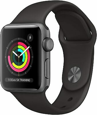 $ CDN212.60 • Buy Apple Watch Series 3 (GPS, 38mm) Space Gray Aluminum Case/Black Sport Band New!!