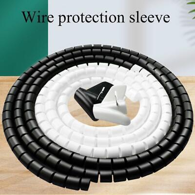£3.15 • Buy 2020 Cable Hide Wrap Tube Organizer & Management Wire Flexible Cord HOT