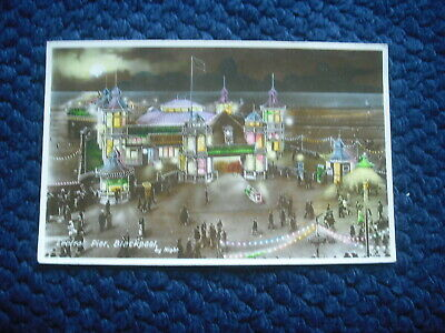 Postcard Central Pier, Blackpool By Night, Lancashire • 1.99£