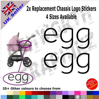 2x BabyStyle Egg Replacement Chassis Logo Stickers Pushchair Pram Stroller • 1.99£