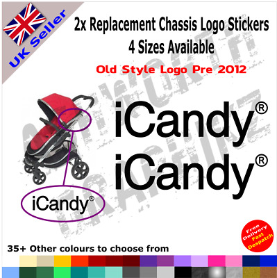 2x ICandy Replacement Logo Stickers Old Style Pre 2012 Pushchair Pram Stroller • 1.49£