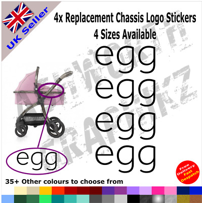4x BabyStyle Egg Replacement Chassis Logo Stickers Pushchair Pram Stroller • 3.49£