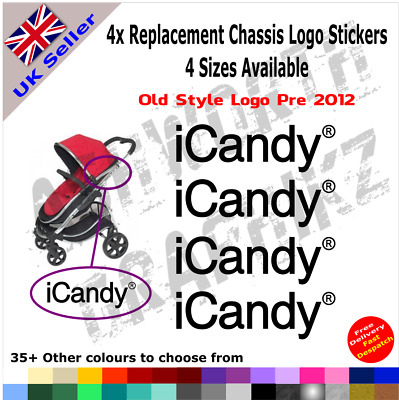 4x ICandy Replacement Logo Stickers Old Style Pre 2012 Pushchair Pram Stroller • 2.49£