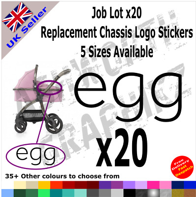 20x BabyStyle Egg Replacement Chassis Logo Stickers Pushchair Pram Stroller • 9.99£