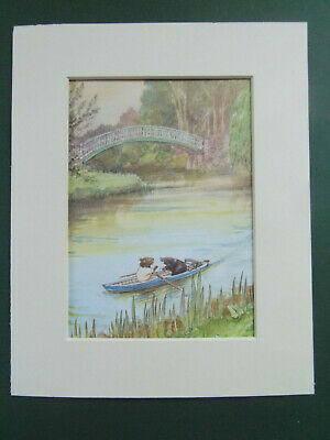 WIND IN THE WILLOWS E.SHEPHERD VINTAGE PRINT C1969 NEW MOUNT 10in X 8in • 8.99£