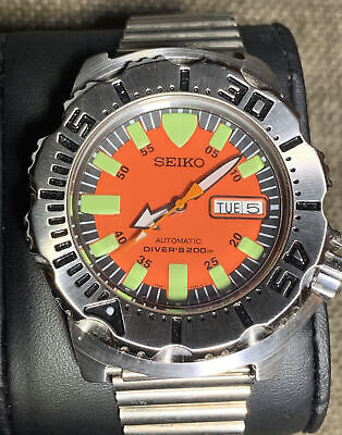 $ CDN95.69 • Buy Seiko Diver's 200m Automatic Gorgeous Orange Dial Edition . Great Condition