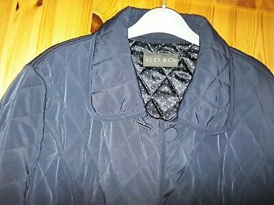 Navy Blue ALEX & Co Quilted Jacket Size 16 • 2.75£