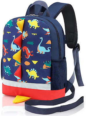 Mtophs Toddler Backpack With Reins Boys Dinosaur Nursery Backpack Dark Blue • 17.97£