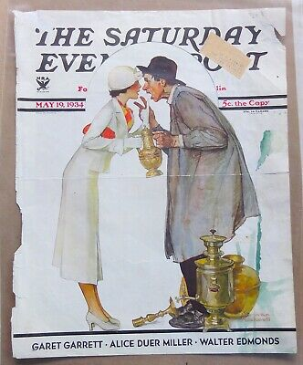 $ CDN5.10 • Buy Reduced!  Norman Rockwell Saturday Evening Post Front Cover May 19, 1934