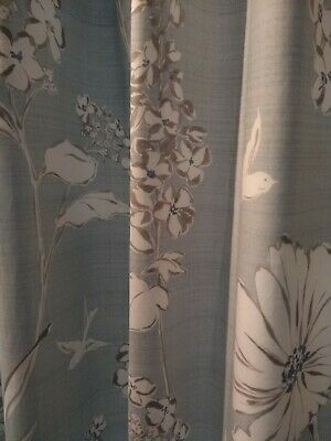 Curtains Next Blue Floral Birds Lined • 15.50£