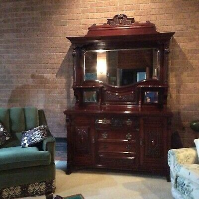 AU520 • Buy Antique Sideboard Good Condition. Top Section Removable Will fit 8ft Ceiling