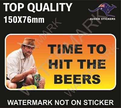 AU5.99 • Buy Time To Hit The Beers Sticker Russell Coight Vb