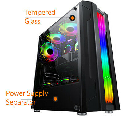 AU55 • Buy Computer Casing RGB Front Light Gaming Case ,PC Case, Gaming Computer Full ATX