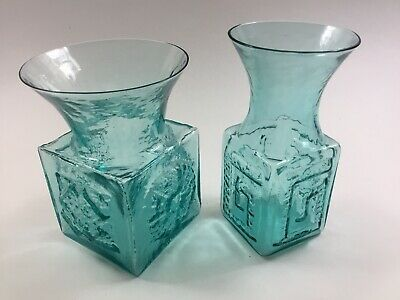 £38 • Buy Two Vintage 1960's Dartington Glass Vases Designed By Frank Thrower