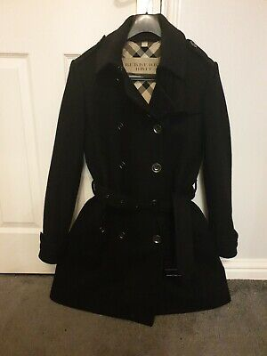 Ladies BURBERRY BRIT Belted Coat Size 12 Paid £1150 Wool & Cashmere • 175£