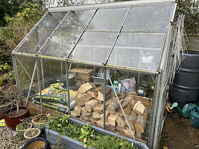 Eden Aluminium & Glass Greenhouse 250x190 (8ft X 6ft) Plus Raised Beds If Wanted • 86£