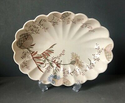 Ridgways Aesthetic Movement 'Stratford' Pattern Scalloped Bowl Serving Dish • 32£