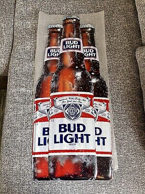 $ CDN126.61 • Buy Vintage Bud Light Beer Metal Tin Sign Budweiser RARE 1989 30 X 13