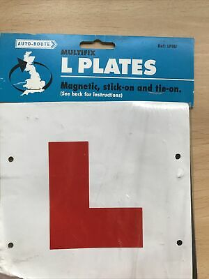 2 X FULLY MAGNETIC L PLATES SECURE Quick Easy To Fix Learner Sign • 1£