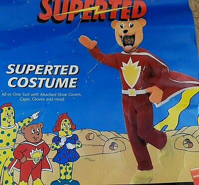 Rare SMIFFYS Large Size Adult Superted Bear Costume Fancy Dress Party Halloween  • 14.99£