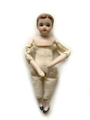 "$ CDN12.62 • Buy Vintage 1976 Lois Jayne Miniature Dollhouse Doll Porcelain 3 3/4"" ClothBody RU14"