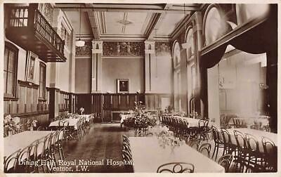 Early VENTNOR Royal National Hospital Dining Hall Isle Of Wight  Photo Postcard • 6£