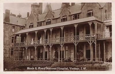 Early VENTNOR Royal National Hospital Block 8  Isle Of Wight  Photo Postcard • 10.50£