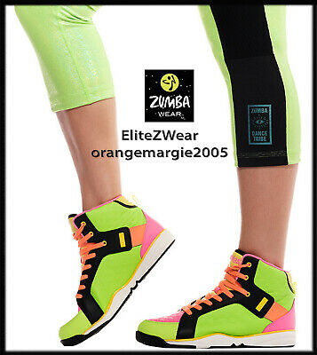 ZUMBA HIGH TOP Shoes Trainers Street Boss W ZSlide & Impact Max Support Leather • 100.58£