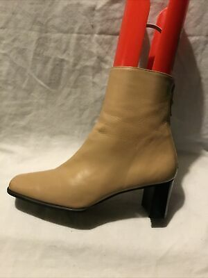 Stuart Weitzman R/ Bromley Ladies Ankle Boots UK Size 4 EU Size 37 Tan Leather • 8.99£