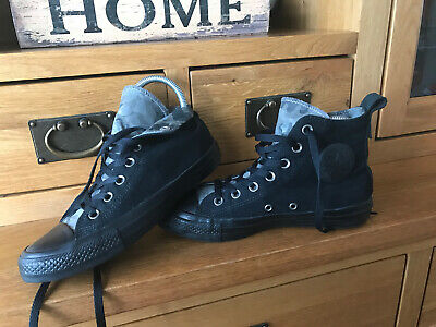 Converse All Star High Top Canvas Trainers Size Uk 5 Eur 37.5 Black Camouflage  • 19.99£