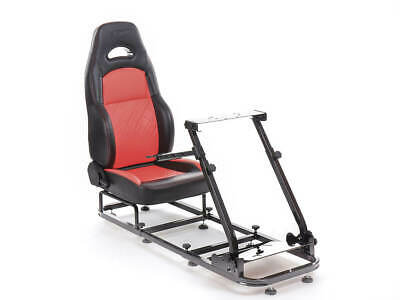 Gaming Racing Simulator Frame Chair Bucket Seat Frame For XBox PS5 (Black/Red) • 234.49£
