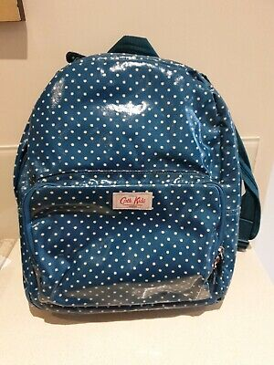 Kids Kath Kidston Blue Spot Oilcloth Backpack Bag Satchel Used Once Excellent • 9.99£