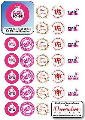 Hen Party Pack Mix STICKERS Decoration Fun Adult Hen Do Party Wedding Engagement • 2.79£