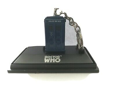 DOCTOR WHO - Official BBC Vintage TARDIS Police Box Die Cast KEY RING Brand New • 14£