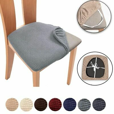 £3.99 • Buy UK Stretch Dining Chair Seat Covers Removable Seat Cushion Slipcovers Protector