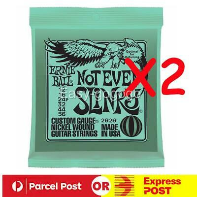 AU18.95 • Buy 2X Ernie Ball Not Even Slinky 2626 12-56 Electric Guitar Strings *BRAND NEW*
