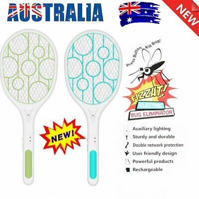 AU19.97 • Buy Electric Bug Zapper Tennis Racket Mosquito Fly Swatter Insect Killer Handhel NW