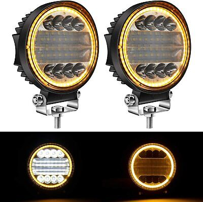AU38.88 • Buy Pair 5  Inch Round LED Work Lights Spot Flood Driving Fog Lamps DRL Offroad 4WD