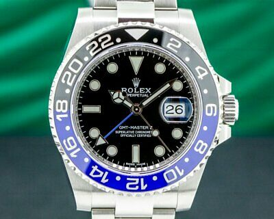 $ CDN27317.89 • Buy Rolex 116710 GMT Master II 116710BLNR Black & Blue  Batman  SS UNWORN