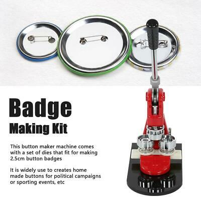 £101.88 • Buy 25mm Badge Maker Machine Making Pin Button Badges Punch Press +1000 Cutter Kits