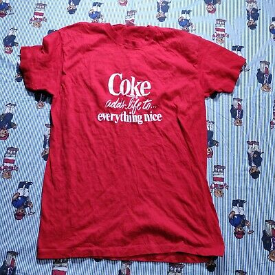 £30.08 • Buy VTG 70s/80s Coca-Cola Coke Adds Life To Everything Nice T Shirt LARGE Hanes 96X